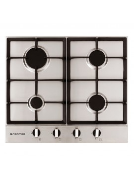 600mm Gas Hob, 4 Burner, Stainless Steel