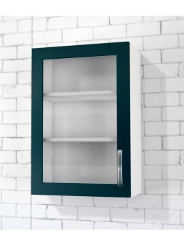 1 Glass Door Top Cabinet (Clear glass) Left Hinged
